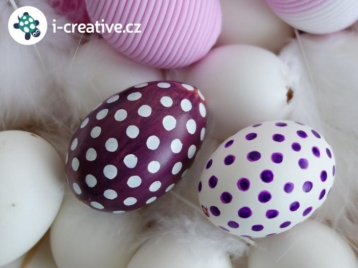 návod na velikonoční kraslice s puntíky