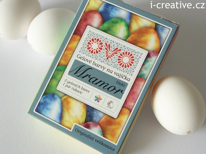 OVO gelové barvy na vajíčka - mramor efekt