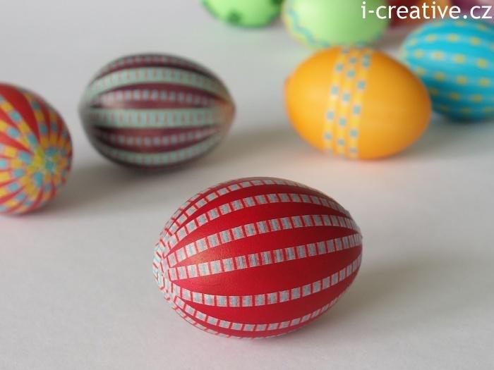 vajíčko ozdobené japonskou dekorační páskou