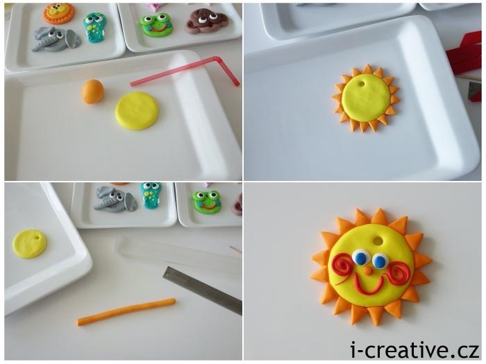 sluníčko z Fimo hmoty pro děti