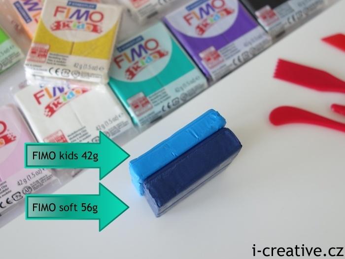 srovnání velikosti bloku Fimo kids a ostatních bloků
