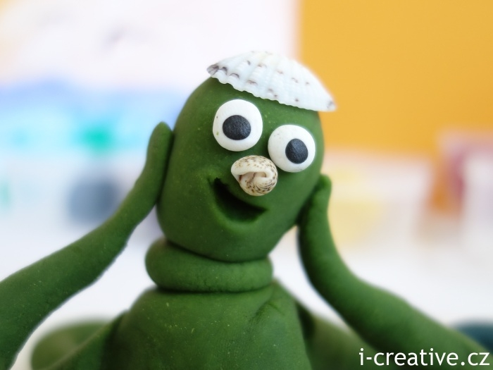 domácí modelína - chobotnice Zelená
