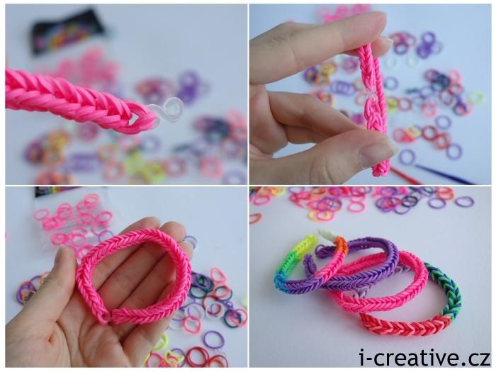gumičkování - pletení na prstech