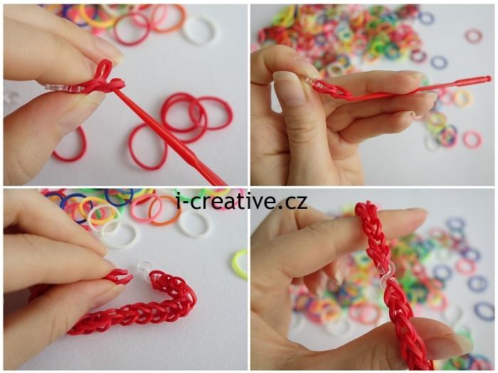 jak vyrobit náramek z gumiček