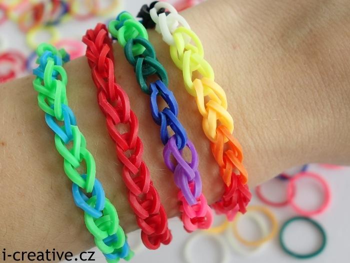 náramky z gumiček loom bands
