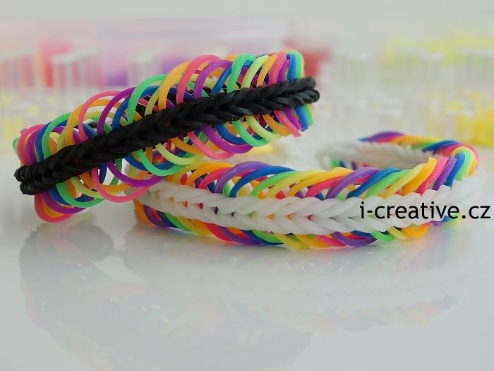 5 linked fishtail náramky z gumiček