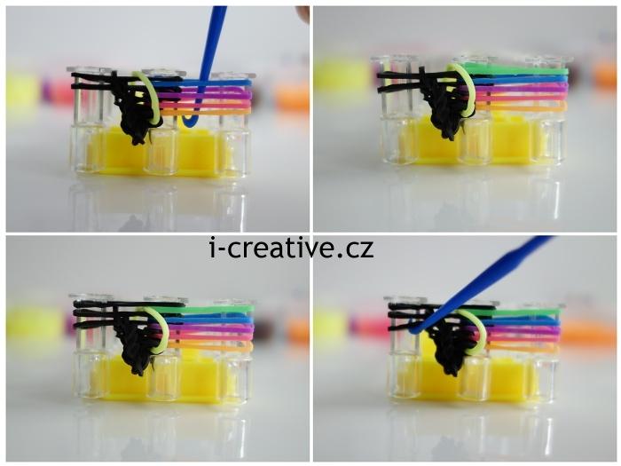 pletení náramků z gumiček na stavu fotonávod