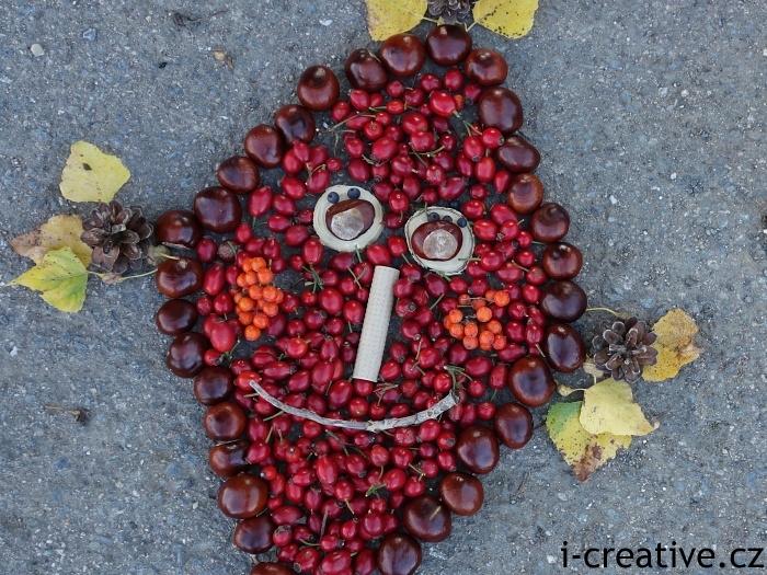 drak z podzimních plodů