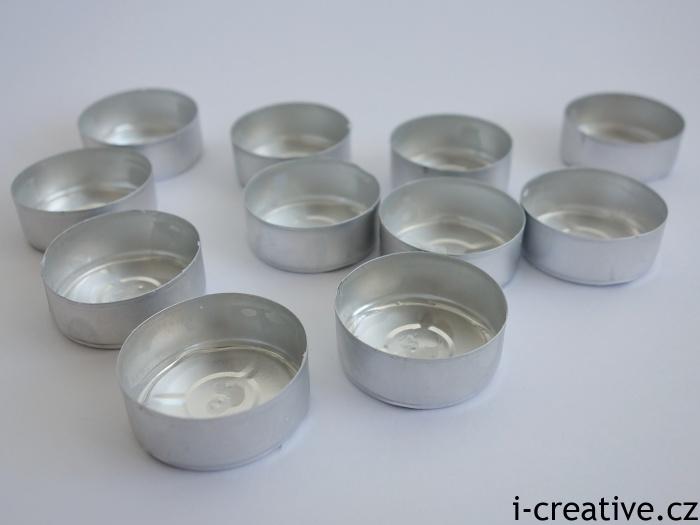 tvoření z kalíšků od čajových svíček
