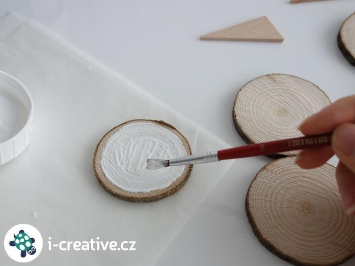 malování na dřevěné plátky
