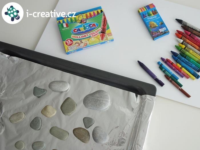 malování na nahřáté kameny