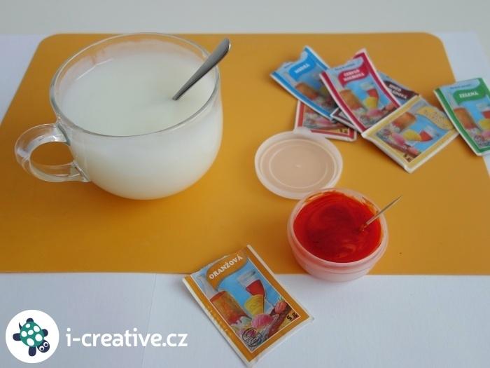 návod jak vyrobit prstové barvy