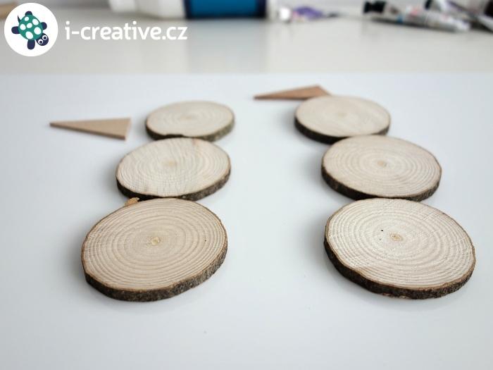 plátky dřeva - kolečka
