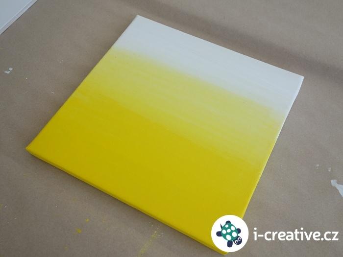 žlutý ombre obraz na plátně