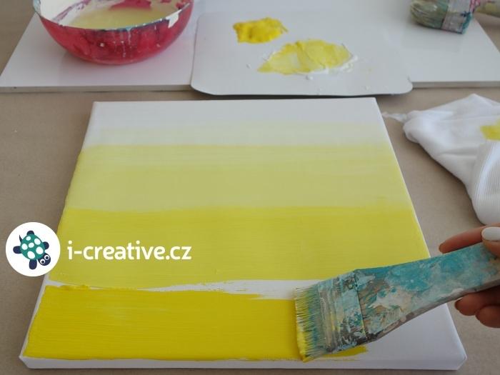jak malovat na plátno - ombre
