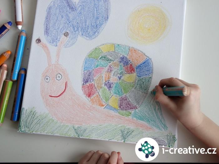 kreslení pastelkami Stabilo