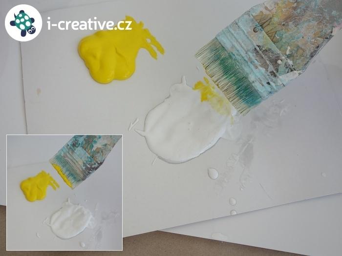míchání akrylových barev