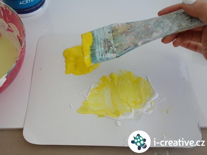 malování akrylovými barvami