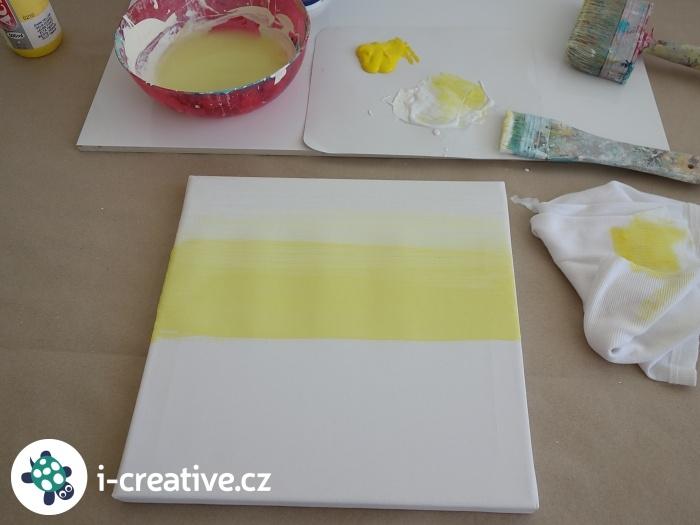 malování na plátno - ombre návod