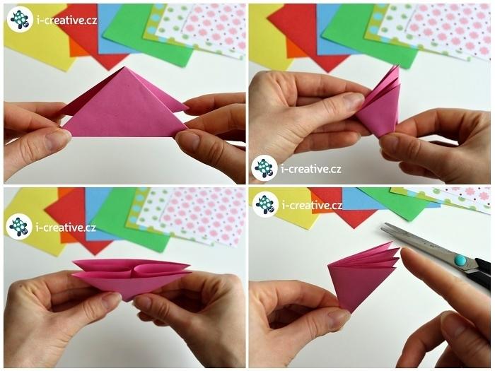 návod jak složit origami motýlka