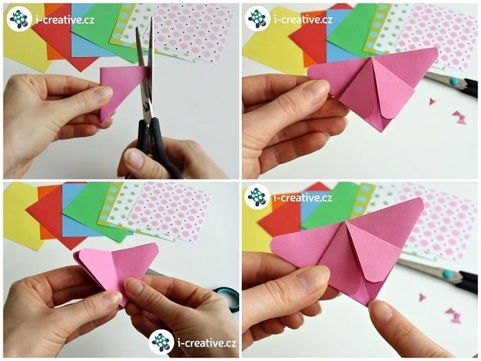 návod na origami motýla
