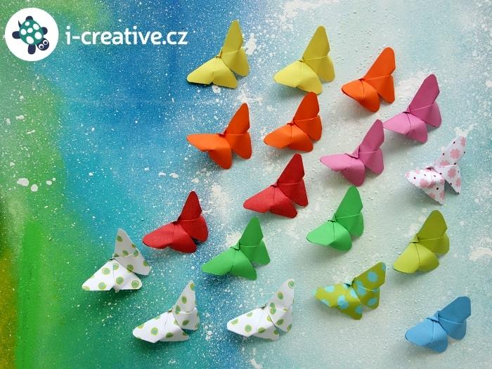 origami motýli