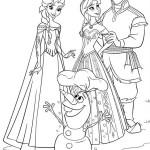 Anna, Elsa, Olaf, Kristoff omalovánka