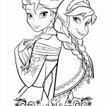 Anna a Elsa omalovánka