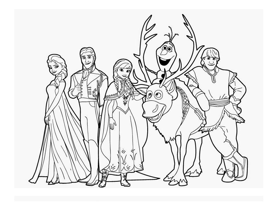 Frozen Coloring Pages Black And White : Omalov�nky ledov� kr�lovstv� i creative cz inspirace