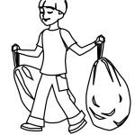 chlapec třídění odpadu