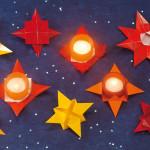 origami hvězdy