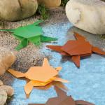origami mořská želva