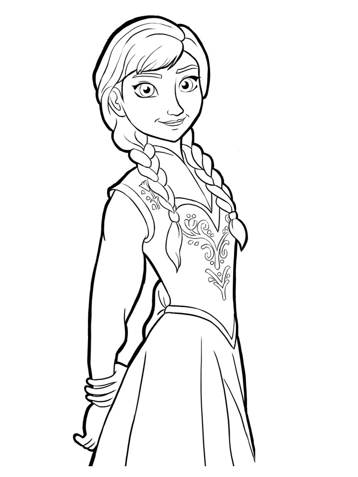 Free Anna Face Frozen Coloring Pages