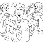 Den otců omalovánka