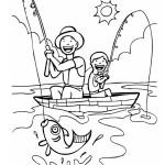 Den otců omalovánky, rybaření