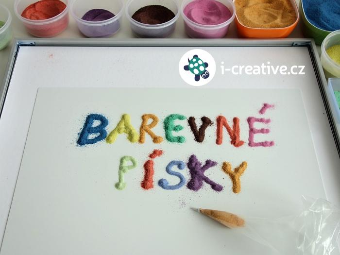 barevné písky nápady