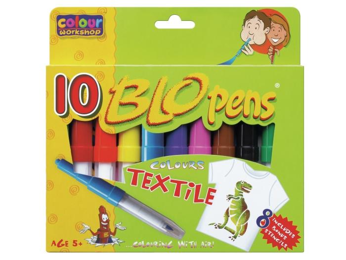 foukací fixy na textil 10 barev