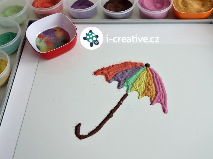 malování obrázků pískem