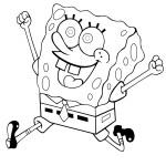 spongebob omalovánka