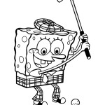 spongebob omalovánka k vytisknutí