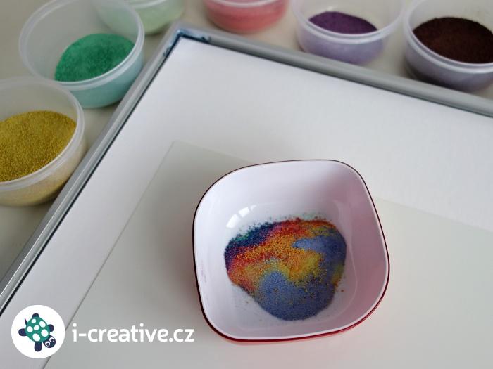 barevné písky směs