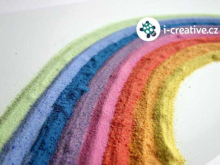 tvoření s barevnými písky