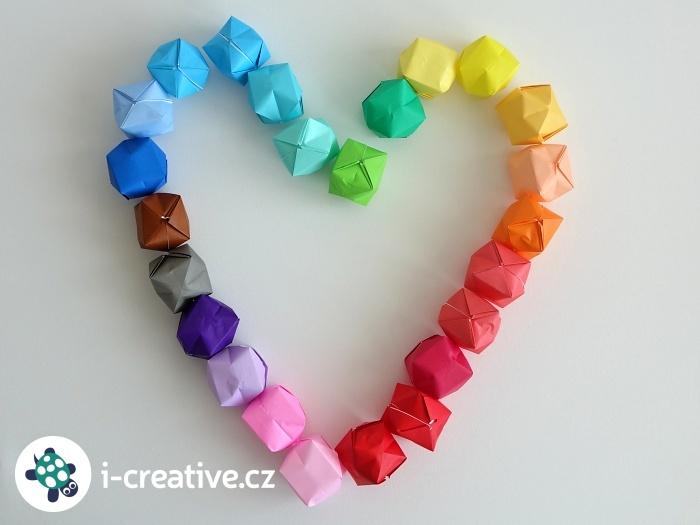 návod jak složit origami balónky