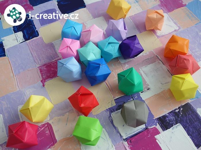 origami balónky návod