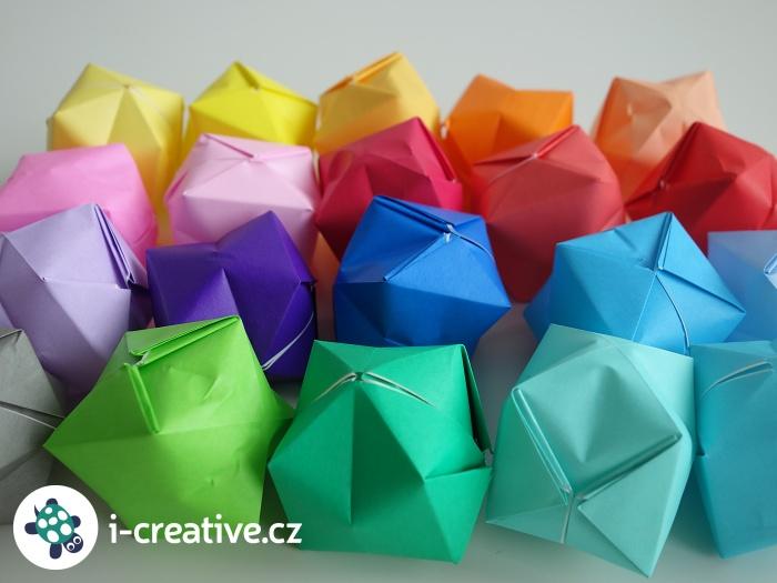 origami balónky