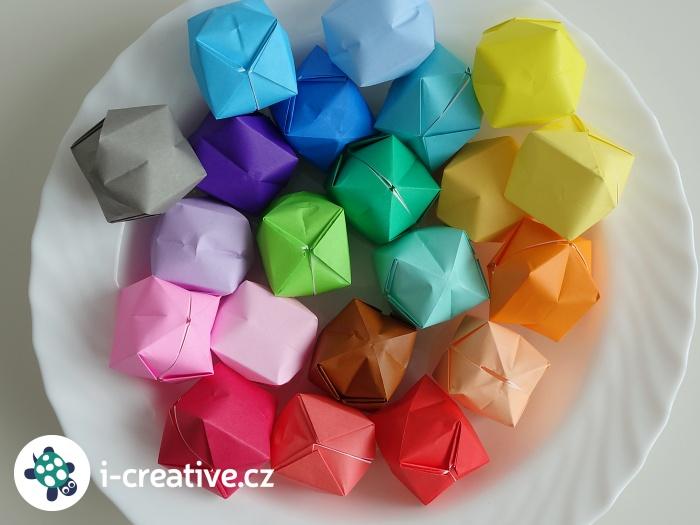 origami návod - balónky