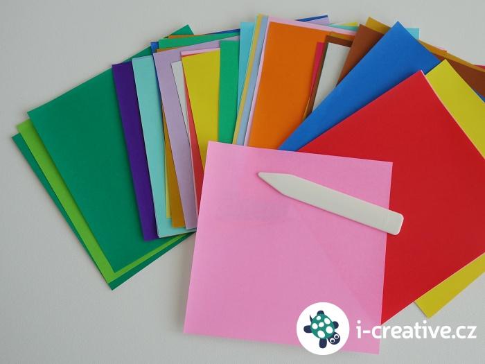 origami papíry, návod