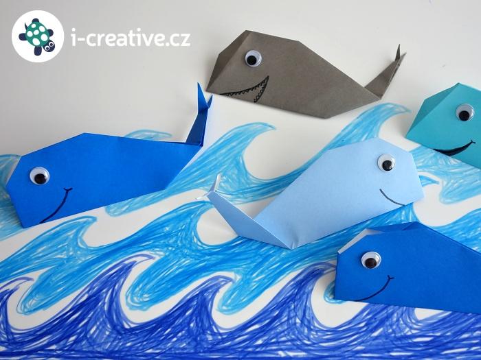 velryba origami pro nejmenší