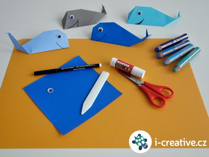 velryby z papíru