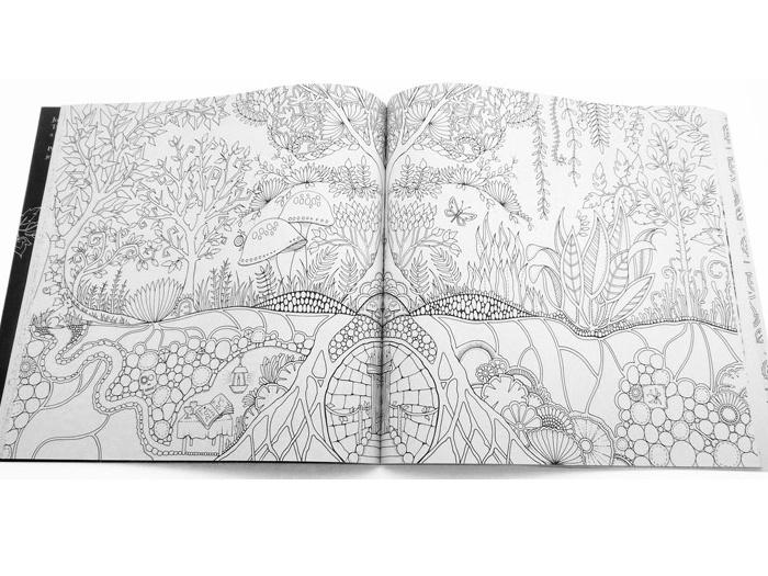 Johanna Baford Čarovný les ukázka